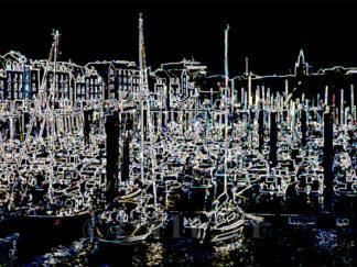 Le Port - Notre Dame de Bonsecours - Dieppe - Gilt réf.: M56 - Thème Mer - Estampe