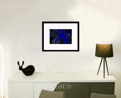 Décoration d'intérieur - séjour - meuble, lampe et sculpture avec Estampe d'Art Gilt - Arbres et Mousses AM08