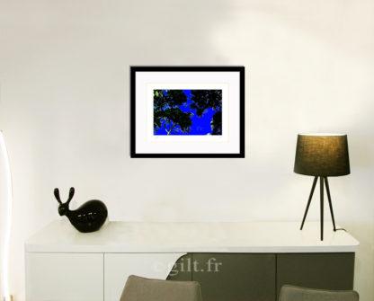 Décoration d'intérieur - séjour - meuble, lampe et sculpture avec Estampe d'Art Gilt - Arbres et Mousses AM11