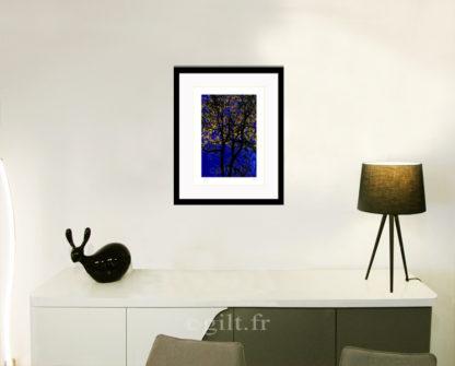 Décoration d'intérieur - séjour - meuble, lampe et sculpture avec Estampe d'Art Gilt - Arbres et Mousses AM13