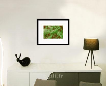 Décoration d'intérieur - séjour - meuble, lampe et sculpture avec Estampe d'Art Gilt - Arbres et Mousses AM15