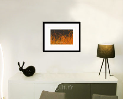 Décoration d'intérieur - séjour - meuble, lampe et sculpture avec Estampe d'Art Gilt - Arbres et Mousses AM16