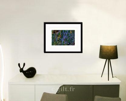 Décoration d'intérieur - séjour - meuble, lampe et sculpture avec Estampe d'Art Gilt - Arbres et Mousses AM17