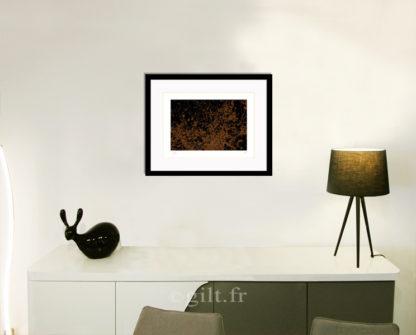 Décoration d'intérieur - séjour - meuble, lampe et sculpture avec Estampe d'Art Gilt - Arbres et Mousses AM20